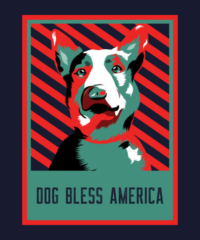 T-Shirt Design Maker Featuring a Dog Illustration with a Political Style 3555a