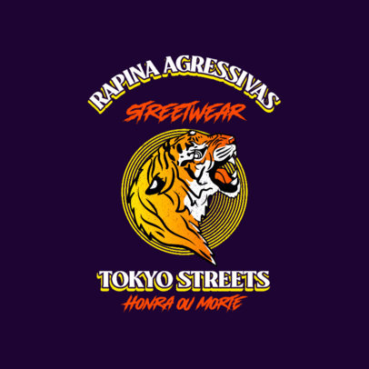 Logo Generator Featuring a Tiger Graphic and a Japanese-Influenced Style 4215A