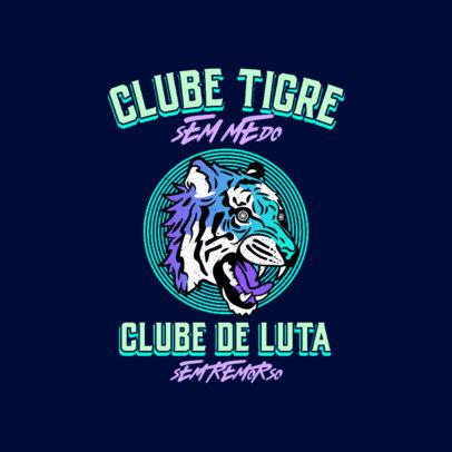 Martial Arts Logo Generator Featuring a Fierce Tiger Graphic 4215B
