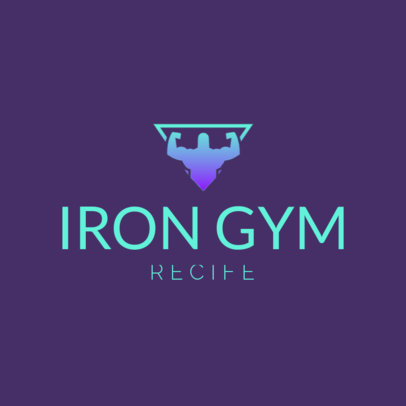 Gym Logo Generator Featuring a Simple Graphic with Bold Text 4222a