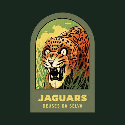 Apparel Brand Logo Template Featuring a Jaguar Illustration 4218a