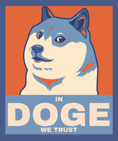 Political-Inspired T-Shirt Design Maker with an Illustrated Doge 3553a