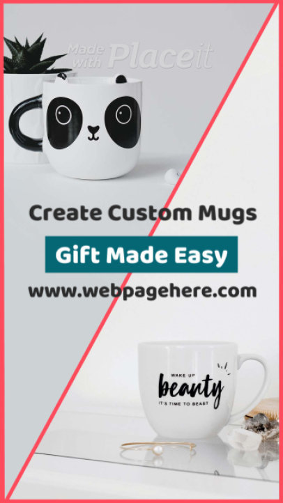 Instagram Story Video Creator for a Custom Mugs Website 268g 3090