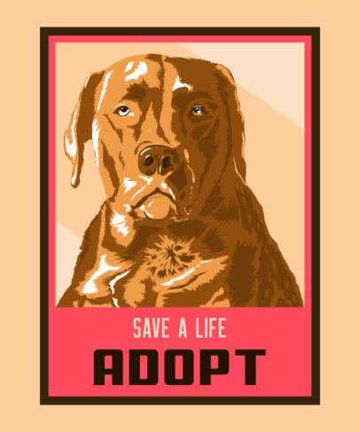 Illustrated T-Shirt Design Generator for a Dog Adoption Campaign 3555d