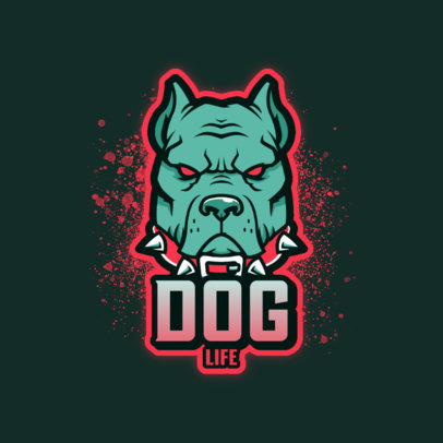 Gaming Logo Template Featuring Breed Dog Graphics 4230