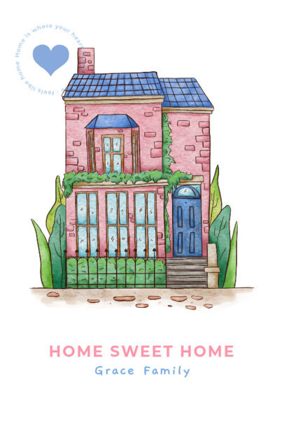Poster Design Maker with Cute Illustrations of Houses 4232
