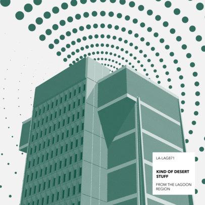 Alt-Rock Album Cover Template Featuring Brutalist Architecture 3571