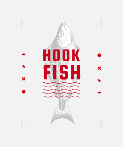 Fishing-Themed T-Shirt Design Template Featuring Modern Fonts 3781c