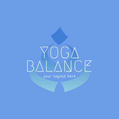 Yoga Logo Maker Featuring a Minimal Icon in the Background 1360d-4172