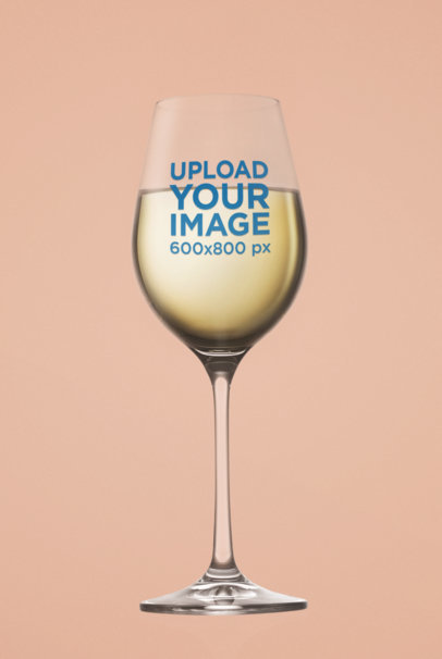 Mockup of a Wine Glass Standing Against a Customizable Background m3265-r-el2