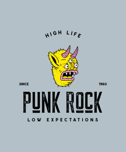 Punk T-Shirt Design Template with a Monster Graphic 4227b