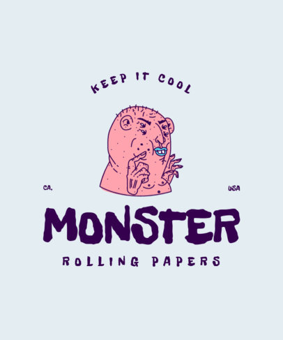 Monster-Themed T-Shirt Design Maker with a Trippy Graphic 4227c
