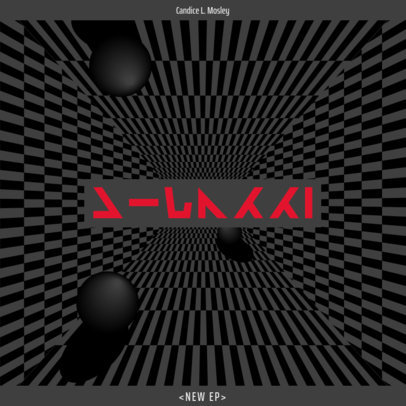Trippy Album Cover Design Template for an Alt-Rock Musician's EP 3579d