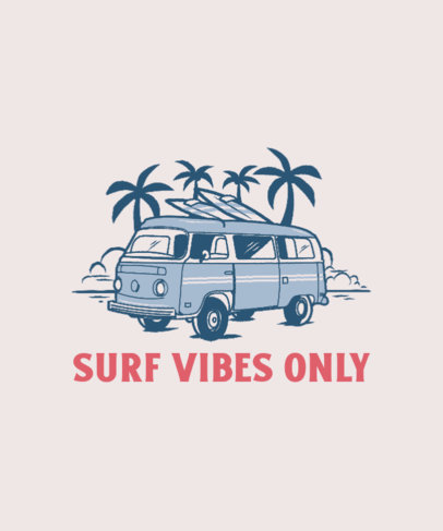 T-Shirt Design Generator for Surfers Featuring a Vintage Camper Van Illustration 3567b