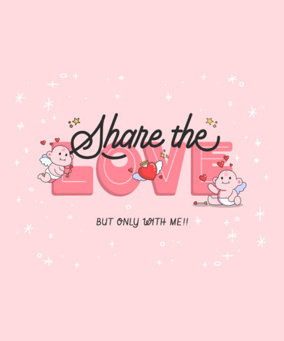 Cupid-Themed T-Shirt Design Creator with an Illustrated Quote 3777f