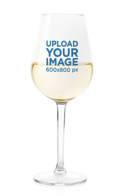 Minimalist Mockup of a Half-Full Wine Glass Against a Solid Surface m3614-r-el2