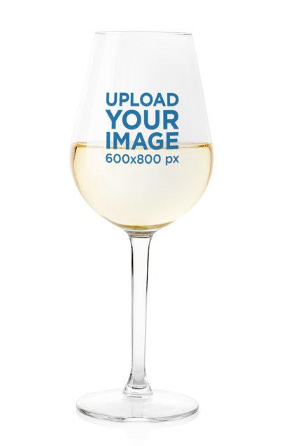 Minimalist Mockup of a Half-Full Wine Glass Against a Solid Surface m3614-r-el2