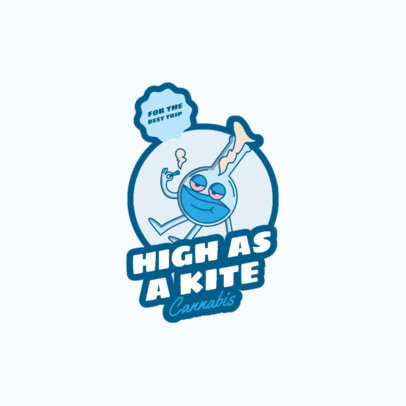 Cannabis Logo Template Featuring a Bong Cartoon 3779e