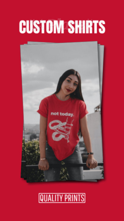 Instagram Story Video Creator to Promote a Custom T-Shirt Business 1765a 3093-el1