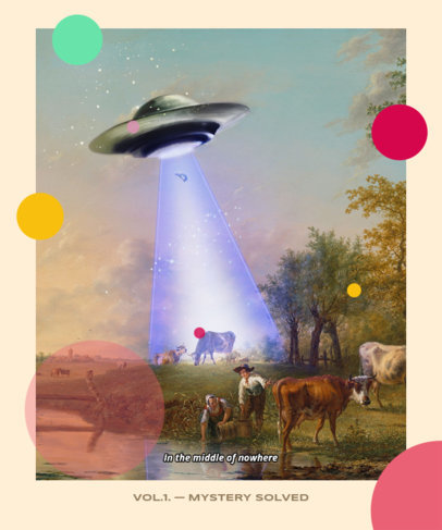 Trendy T-Shirt Design Maker with a Painting of a UFO 3574b
