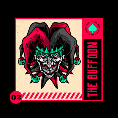 Illustrated Logo Template Featuring an Aggressive Buffoon 4229a
