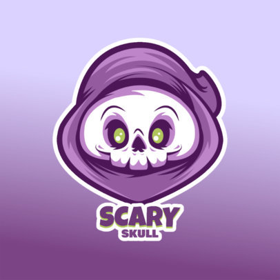 Gaming Logo Maker Featuring a Cute Reaper Cartoon 4228i