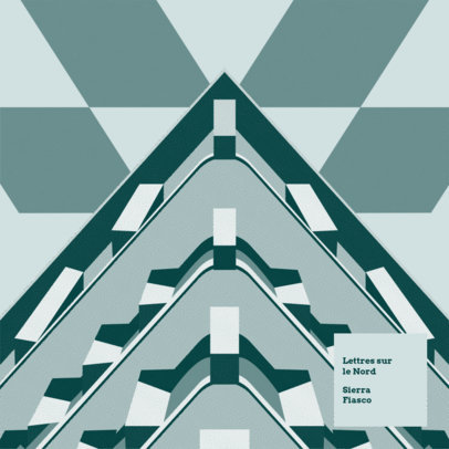 Album Cover Maker for Indie Rock Bands with Geometrical Shapes 3571e
