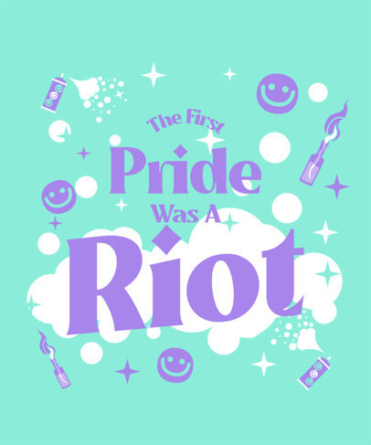 LGBT T-Shirt Design Template Featuring Pride Quotes 3594