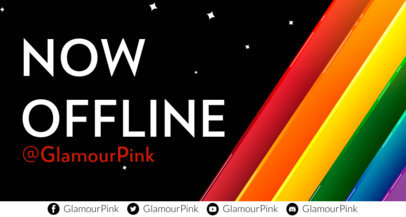 LGBTQ-Themed Twitch Offline Banner Template Featuring Colorful Graphics 3589