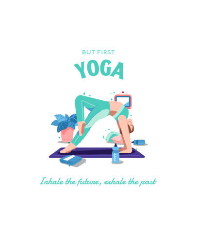 T-Shirt Design Maker with an Illustration of a Woman Doing a Yoga Pose 3803c-el1