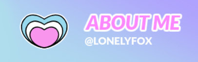 LGBTQ Twitch Panel Design Template with Pastel Colors and Sticker Icons 3587
