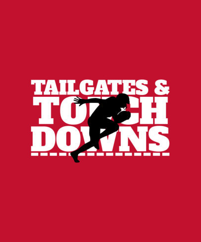Football T-Shirt Design Maker Featuring a Bold Font and a Quote 40d