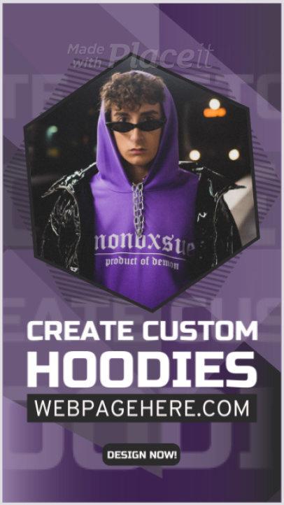 Instagram Story Video Maker for a Custom Hoodies Website Promo 1121b-3125