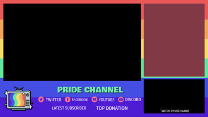 OBS Stream Overlay Maker Featuring LGBTQ-Pride Graphics 3590