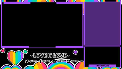 Twitch Overlay Maker with Lovely LGBTQ-Themed Graphics 3586e