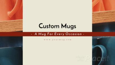 Modern Facebook Cover Video Creator for a Custom Mugs Store 938b 3124
