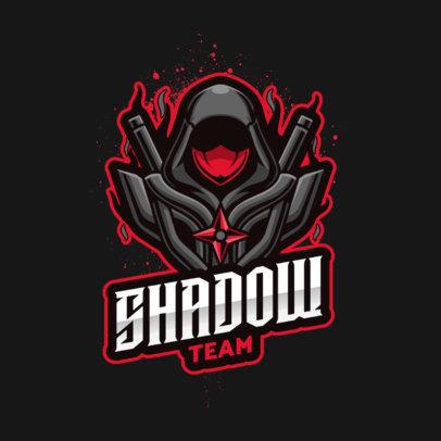 Gaming Logo Generator Featuring a Modern Shadow Ninja 3500c-el1