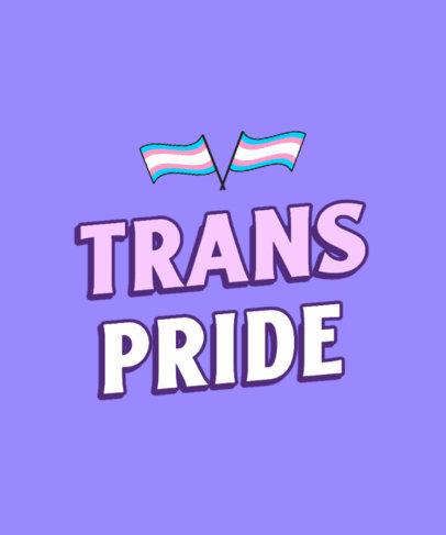 T-Shirt Design Generator with a Transgender Pride Text 3593d