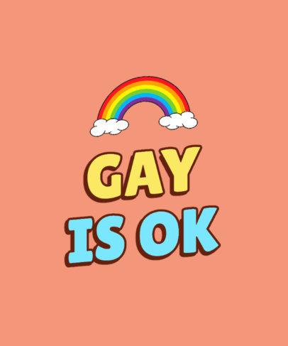 LGBTQ T-Shirt Design Generator with a Pride Rainbow Graphic 3593b