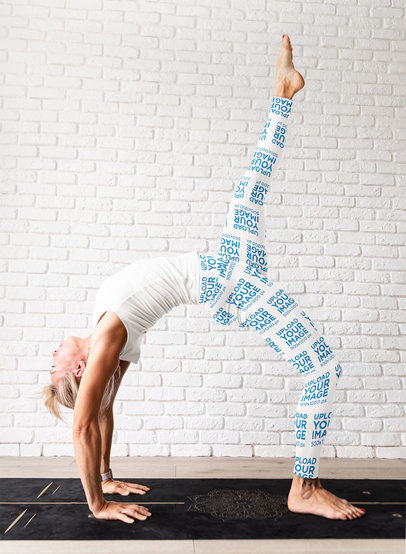 Leggings Mockup of a Woman Doing a Backbend Yoga Pose M4299-r-el2