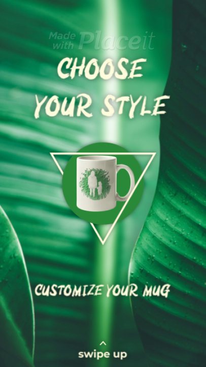 Instagram Story Video Template for a Customizable Mugs Ad 1725a 3133-el1