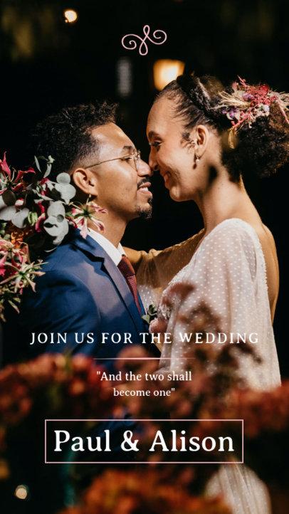 Instagram Story Creator for a Modern Wedding Invite 3634b-el1