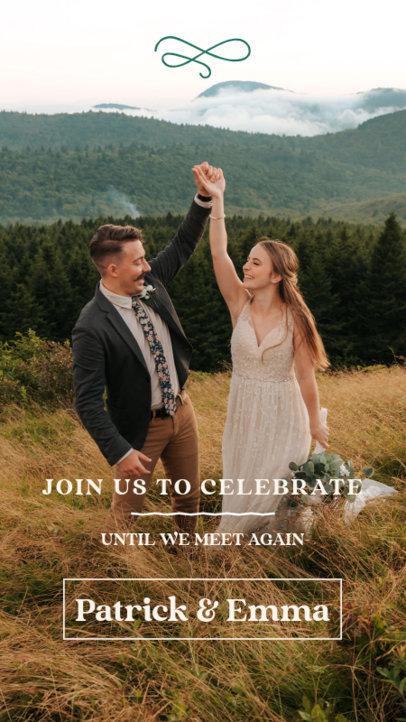 Instagram Story Maker to a Wedding Live Stream Invitation 3634d-el1