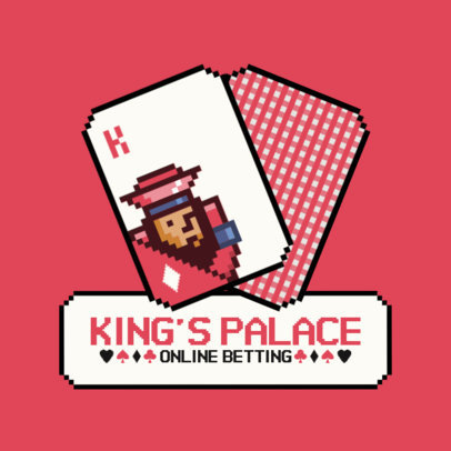 8-Bit Style Logo Maker for Online Gambling Sites Featuring Poker Card Graphics 8-Bit Style Logo Maker for Online Gambling Sites Featuring Poker Card Graphics 3793d-el1