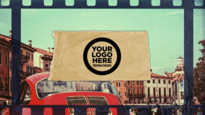 Intro Video Maker Featuring a Vintage Film Aesthetic and a Travel Theme 2922-el1
