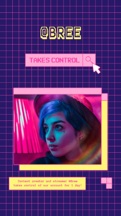 Gaming-Themed Instagram Story Maker to Announce a Streamer's Takeover 3815e-el1