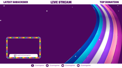 Twitch Overlay Template Featuring an LGBTQ Theme and a Webcam Frame 3589a