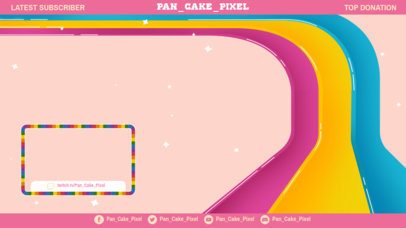 OBS Stream Overlay Template Featuring LGBTQ Pride Colors 3589d