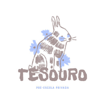 Daycare Logo Maker Featuring a Childish Illustration of a Bunny 4253a