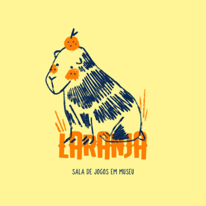 Daycare Logo Maker Featuring an Illustration of a Capybara  4253f